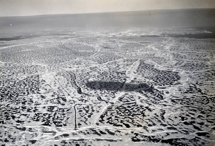 The Arctic's icy landscape in 1931 as seen from the Graf Zeppelin. (U.S. Coast Guard courtesy photo enhanced by USA Patriotism!)