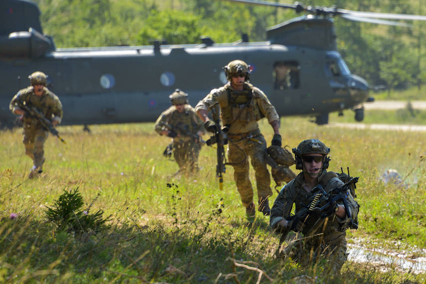U.S. Soldiers with the 75th Ranger Regiment conduct a training raid at the Hohenfels Training Area, Germany during exercise Swift Response 15, Aug. 26, 2015. Swift Response 15 is the U.S. Army's largest combined airborne training event in Europe since the end of the Cold War. More than 4,800 service members from 11 NATO nations – including Bulgaria, France, Germany, Greece, Italy, the Netherlands, Poland, Portugal, Spain, the United Kingdom and the United States – will take part in the exercise on training areas in Bulgaria, Germany, Italy and Romania, Aug. 17-Sept. 13, 2015. Swift Response 15 is designed to integrate multiple allied nations' crisis response forces into a cohesive team and demonstrate the combined ability to rapidly deploy and operate in support of maintaining a strong and secure Europe. To learn more about Swift Response, visit the U.S. Army Europe homepage at www.eur.army.mil. (U.S. Army photo by Visual Information Specialist Markus Rauchenberge)