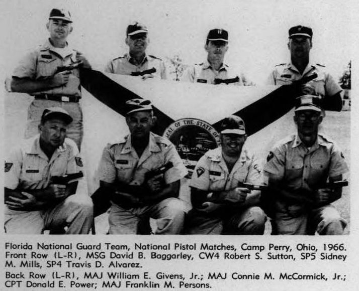 U.S. Air Force Lt. Col. David Lowery recovered this historic photo of his late grandfather, William E. Givens Jr. (top left) with his firing team during a competition in Camp Perry, Ohio, in 1966. (Courtesy photo provided by U.S. Air Force Lt. Col. David Lowery)