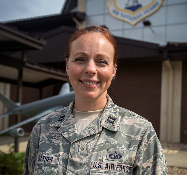 Sept. 21, 2016 - Hospice volunteer Capt. Felicia M. Bittner, is a Senior Intelligence Officer with the 108th Operations Support Squadron, New Jersey Air National Guard, at Joint Base McGuire-Dix-Lakehurst, NJ. (U.S. Air National Guard photo by Master Sgt. Mark C. Olsen)