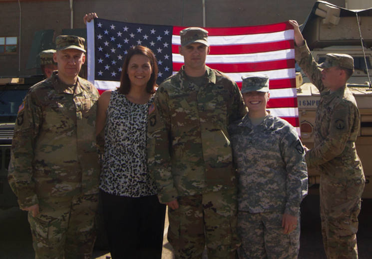 April 18, 2016 - Col. Doyle Lassitter, Christine Lassitter, Cpl. Matthew Lassitter, and Cpl. Kristie Lassitter together after Cpl. Lassitter's re-enlistment ceremony on Fort Campbell, KY. (U.S. Army photo by Sgt. Neysa Canfield)