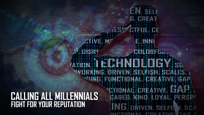 "The ""Calling All Millennials"" graphic/image was created by U.S. Air Force Senior Airman Chip Pons (U.S. Photo By Senior Airman Charles Pons Abascal)"
