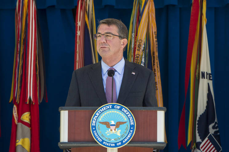 "June 9, 2016 - Defense Secretary Ash Carter announces new ""Force of the Future"" initiatives at the Pentagon,. (DoD photo by Navy Petty Officer 1st Class Tim D. Godbee)"