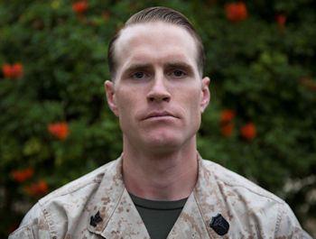 April 7, 2016 - Hospital Corpsman 2nd Class Robert Park, a combat trauma management instructor with the 1st Marine Division Surgeon's Office. (U.S. Marine Corps photo by Lance Cpl. Timothy Valero)