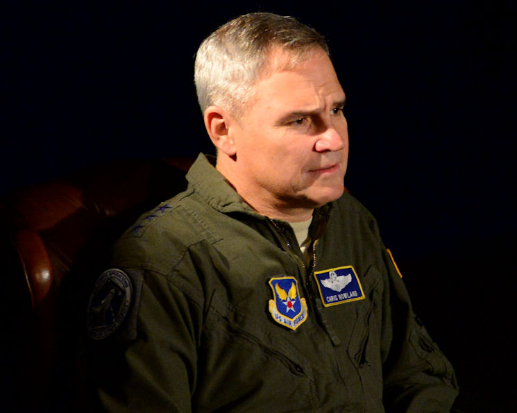 January 10, 2017 - Lt. Gen. Chris Nowland, Air Force deputy chief of staff for operations, plans and requirements (AF/A3), talks about the current pilot shortage across the Air Force at Nellis Air Force Base, Nevada. In September 2015, the Chief of Staff of the Air Force directed a Fighter Enterprise Redesign to focus on developing a strategy and implementation plan to ensure the Air Force has an enduring, proficient and sufficient fighter pilot force. (U.S. Air Force photo by Airman 1st Class Nathaniel Byrnes)