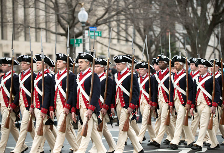 January 20, 2017 - Members of the 3rd U.S. Infantry Regiment, or Old Guard, march during the inaugural parade along Pennsylvania Avenue in Washington, D.C. (U.S. Army photo by Sean Kimmons)