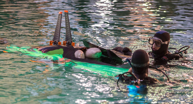 June 28, 2017 - Third day of the International Human-Powered Submarine Races in the David Taylor Model Basin at Naval Surface Warfare Center, Carderock Division in West Bethesda, Md., June 28, 2017. (U.S. Navy photo by Devin Pisner)
