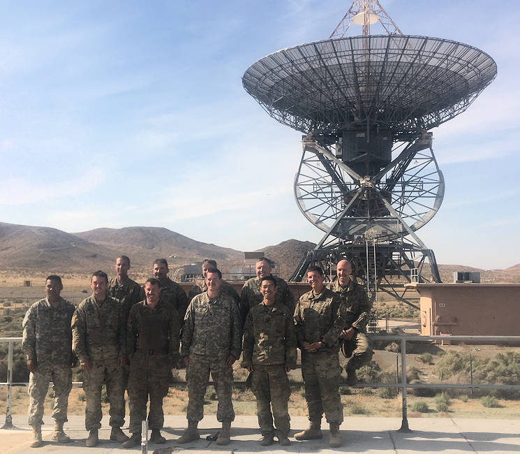"May 15, 2017 - The newly formed Cyber Electromagnetic Activities section of 2nd Armored Brigade Combat Team, 1st Infantry Division, poses for a photo during decisive action rotation 17-06 at the National Training Center on Fort Irwin, California. The section was comprised of electronic warfare noncommissioned officers from multiple battalions within ""Dagger"" brigade. (U.S. Army courtesy photo)"
