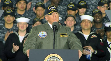 President Trump's remarks about future of U.S. military at USS Gerald R. Ford on March 2, 2017.