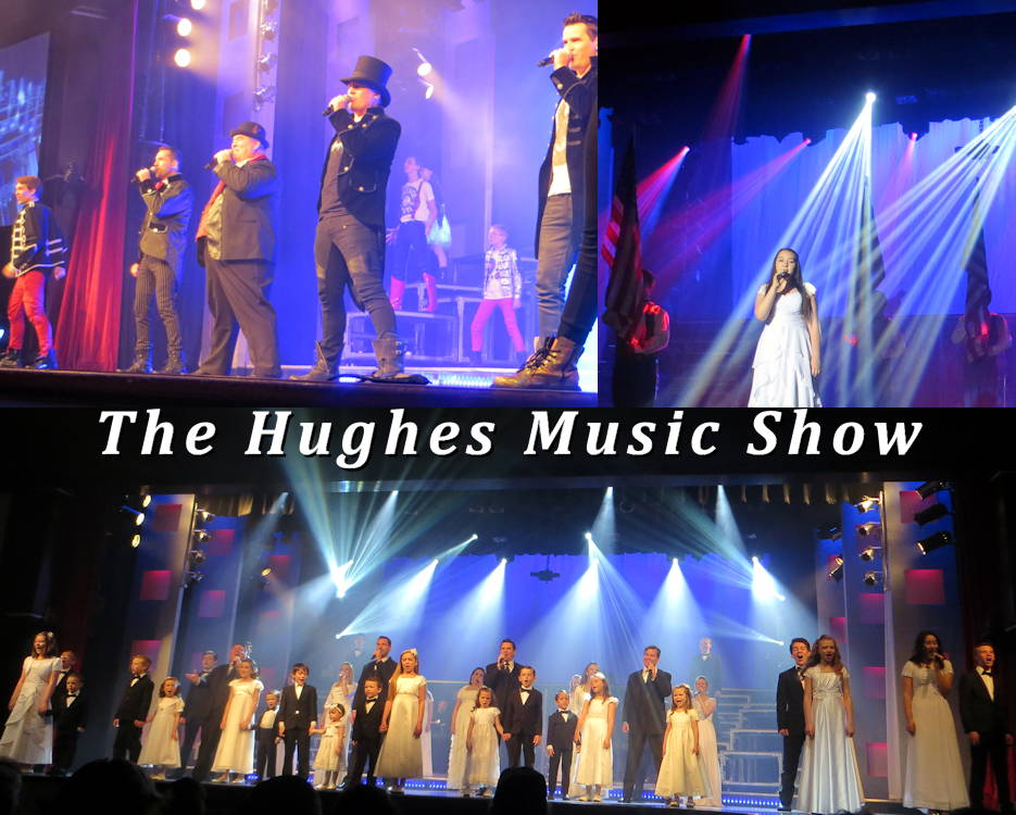 The Hughes Music Show in Branson, Missouri is a very entertaining must see with a dynamic, engaging regular season show ... and an amazing, inspiring Christmas show that is worth a trip to Branson just to see it! Also, every show has scenes expressing pride of our beloved USA. And its a total family effort with the 50+ amazing singers, dancers, musicians, and performers ... all related. The Hughes family is even the largest live performing cast in the USA involving one family. (Image and associated photos of The Hughes Music Show in July 2018 by USA Patriotism!)