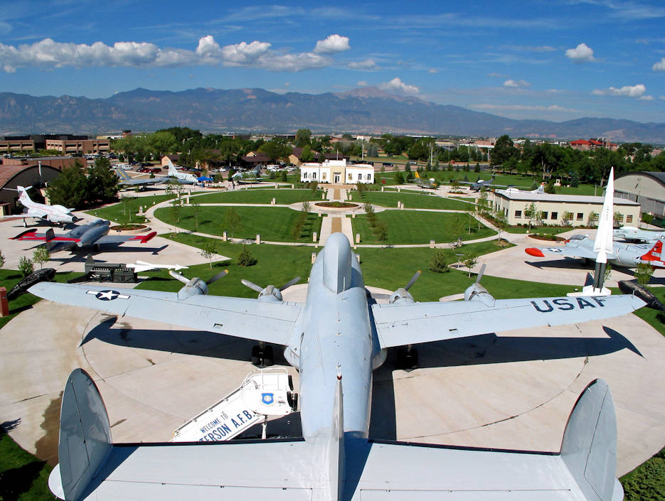 The Peterson Air and Space Museum's static display airpark with American and Canadian aircraft along with surface-to-air missiles at Peterson Air Force Base, Colorado. (U.S. Air Force photo by Airman 1st Class Alexis Christian, 21st Space Wing Public Affairs - September 25, 2013)