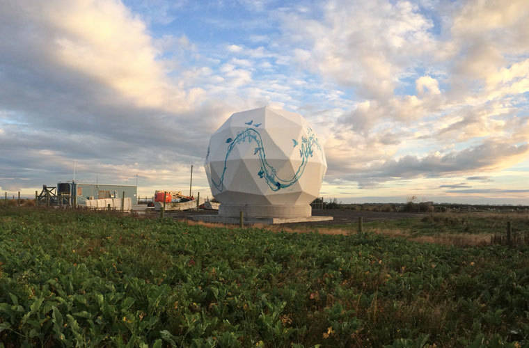 Planet has 30 ground stations worldwide, including this one in Awarua, New Zealand. Planet satellites have customized automation software, which lets the company's Mission Control team prompt the satellites to take pictures at a certain time, push new software to the satellites while they're aloft, and download images to ground stations. (Photo courtesy of Planet - 2018)