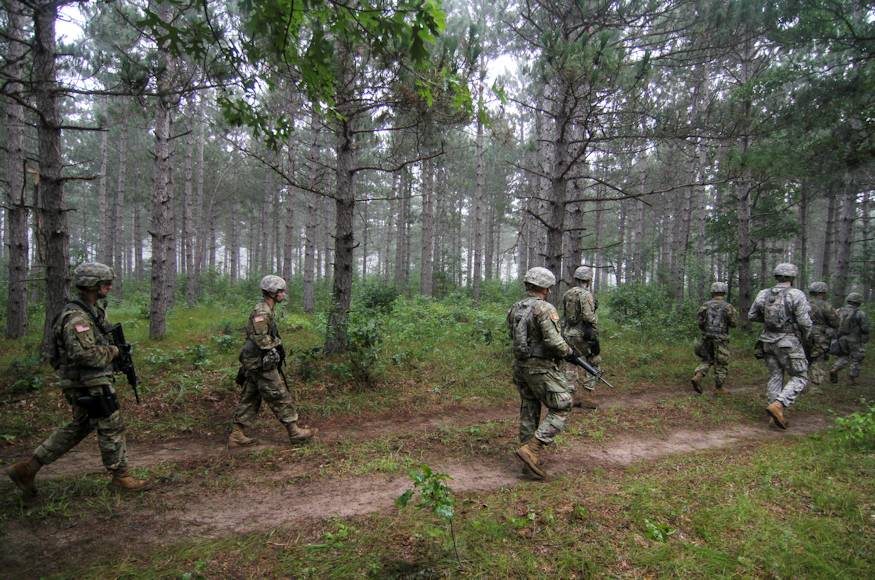 A group of U.S. Army Reserve Soldiers participate in lethal warrior tasks as part of Operation Blue Shield at Fort McCoy, Wisconsin on August 8, 2018. (U.S. Army Reserve photo by Jameson Crabtree)