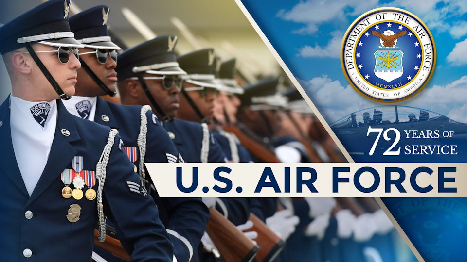Celebrating the 72nd Birthday of the United States Air Force on September 18, 2019 ... On this day, the Air Force became the fourth branch of the Department of Defense with the implementation of the National Security Act of 1947. (Image courtesy of the U.S. Air Force / Department of Defense)