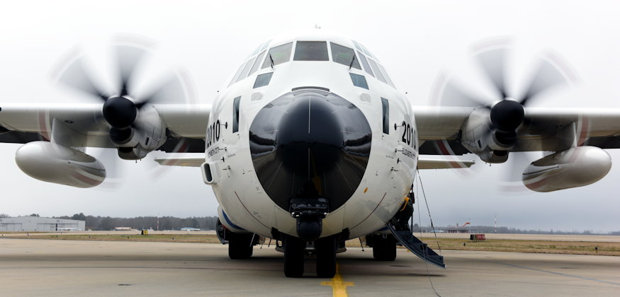 January 8, 2019 - (Top) A Coast Guard HC-130 Hercules airplane crew from Air Station Elizabeth City, North Carolina, conducts pre-flight checks before departing the air station. The crew embarked on a training flight during which mission system operators practiced using the airplane's camera, radar and other sensory equipment, as shown in the bottom image ... with Coast Guard avionics electrical technicians Petty Officer 1st Class Lee Christensen and Petty Officer 3rd Class Cody Blakley at Air Station Elizabeth City, North Carolina, using the radar aboard an HC-130 Hercules airplane over North Carolina's coast to spot fixed and unfixed objects, using the camera to record footage of said objects, and other procedures required of a mission system operator. (U.S. Coast Guard photos by Petty Officer 2nd Class Corinne Zilnicki)
