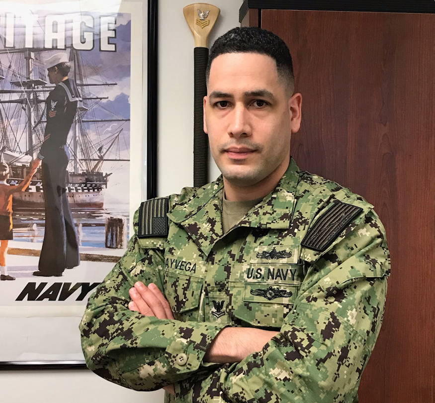 March 23, 2019 - With hard work and perseverance, Boatswain's Mate 2nd Class Oscar Gotya-Vega became the Leading Petty Officer for one of the largest recruiting stations within Navy Recruiting District (NRD) Raleigh, Virginia. (U.S. Navy photo by Rebecca McCarty, Public Affairs Officer, Recruiting District Raleigh)