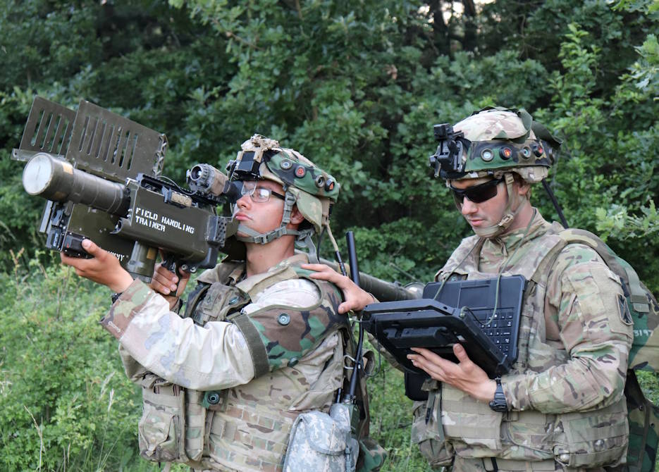 June 8, 2019 - U.S. Army soldiers in Europe demonstrate the Enhanced Target Acquisition Kit, or ETAK, during the Sabre Guardian exercise. ETAK is designed to provide day, night and degraded visual environment target acquisition and tracking for man-portable systems for Warfighters. (U.S. Army photo by Justin Novak)