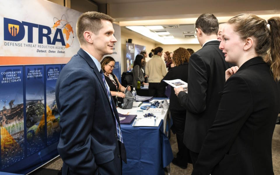 The Defense Threat Reduction Agency (DTRA) participated in the National Nuclear Security Administration's (NNSA), Graduate Fellowship Program (NGFP) career fair which was held at the Department of Energy in January 2020. (Photo by Darnell Gardner, Defense Threat Reduction Agency)