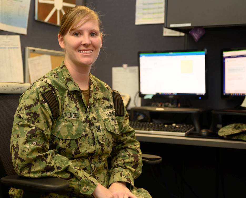 January 8, 2019 - After several years of seeing new parts of the world, Interior Communications Electrician 2nd Class Brandy Clevenger began to feel the need to be close to home and family again. While negotiating for new transfer orders, she got the option to join Navy Recruiting Command to be a cyber-recruiter in Millington, Tennessee. (U.S. Navy photo by Mass Communication Specialist 3rd Class Cody Anderson, Recruiting Command)