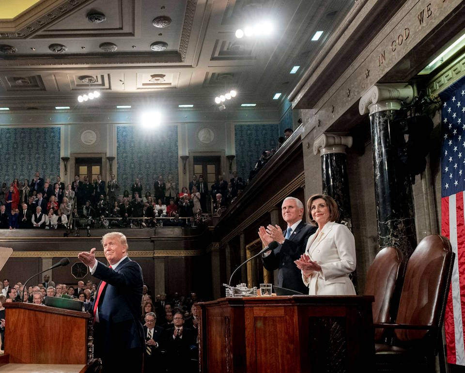 February 4, 2020 - President Donald J. Trump delivers his State of the Union address in the House Chamber in the U.S. Capitol in Washington, D.C. (Image created by USA Patriotism! from Official White House Photo by D. Myles Cullen)