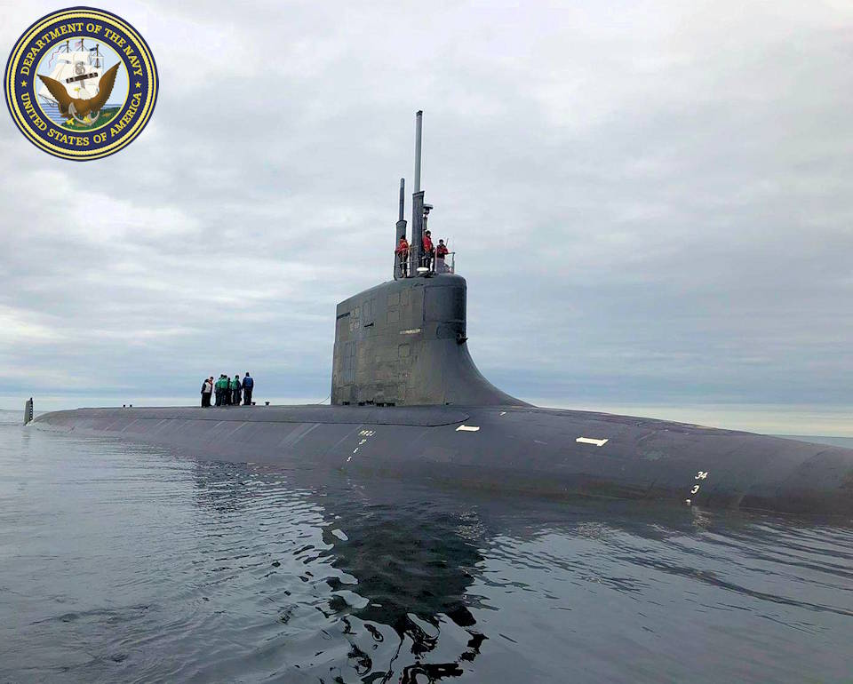 August 21, 2020 - The Seawolf-class fast attack submarine USS Seawolf (SSN 21) conducts a brief stop for personnel in the Norwegian Sea off the coast of Tromsø, Norway. (Image created by USA Patriotism! from U.S. Navy courtesy photo.)