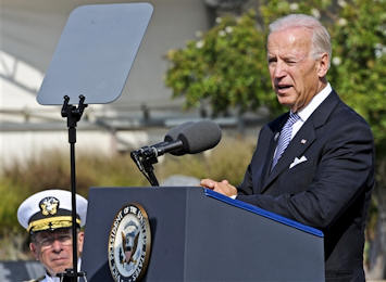 Vice President Joe Biden delivers remarks during the 9/11 ceremony at the Pentagon, Sept. 11, 2011, to remember the 184 people killed in the building and aboard American Airlines Flight 77 in a terrorist attack 10 years ago. DOD photo by R.D. Ward