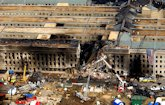 Pentagon after terrorists flew a hijacked airliner into it on September 11, 2001
