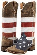 American Flag Western Boots