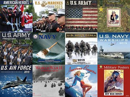 America's Military Calendars Collage