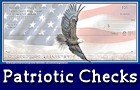Checks with USA, military, and other patriotic designs