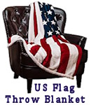 US Flag Throw Blanket