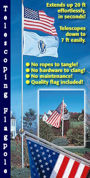 SunSetter 20' Telescoping Flagpole with Free American Flag
