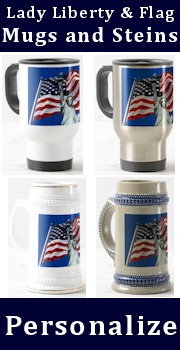 Satute of Liberty / Flag Mugs and Steins