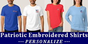 Personalized Patriotic Embroidered Shirts