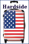 Hardside Spinner Luggage with American Flag Design