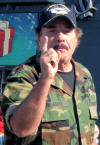 Patriot, entertainer Tony Orlando expresses his love and support of the troops and veterans at an event during Veterans Week in Branson, MO on November 7, 2009.