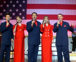 The Brett Family performing a patriotic song on July 8, 2010.