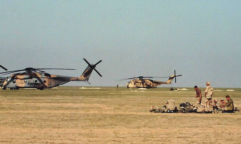 U.S. Marines prepare for helo mission during Operation Desert Storm in January 1991. February 28, 2021, marked 30 years since the end of the operation. (U.S. Marine Corps courtesy photo)