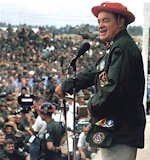 Bob Hope entertaining the troops in Vietnam.