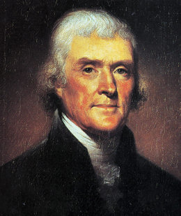 Thomas Jefferson - 3rd President of the United States of America
