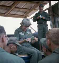 Martha Ray interacting with troops in Vietnam, 1967 (2)