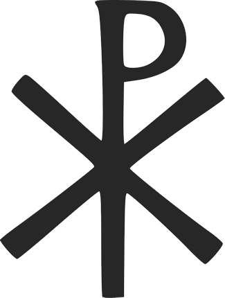 Chi Rho - a Christogram composed of the first two letters of the Greek Khristos.