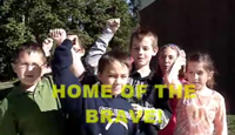 Tussing Elementary 3rd Grade Class performing Home of the Brave!