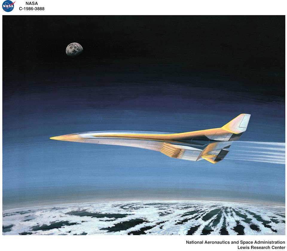 Hypothetical hypersonic illustration by NASA Lewis Research Center - May 15, 2019.