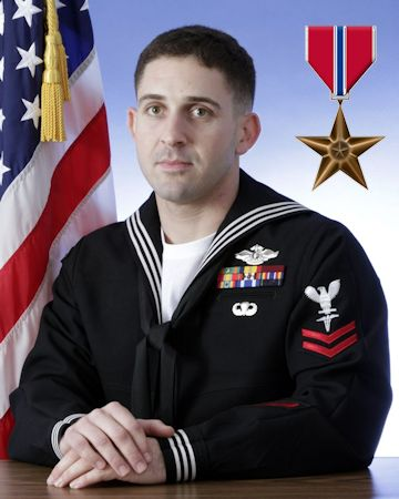 Bronze Star Medal Recipient Hospital Corpsman 2nd Class Michael Marchante