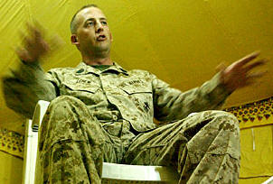 Navy Cross recipient 1st Sgt. Justin D. Lehew, company first sergeant, Company C, Battalion Landing Team 1st Battalion, 4th Marine Regiment, 11th Marine Expeditionary Unit (Special Operations Capable), recounts March 23, 2003 . . . during Operation Iraqi Freedom when his amtrac unit was engaged in heavy fighting in An Nasiriyah.
