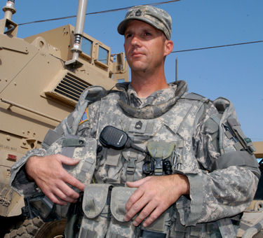 Sgt. 1st Class Timothy Nein, who has deployed to Iraq three times, serves with the Kentucky National Guard's 223rd Military Police Company, at Camp Taji, Iraq. Nein was awarded the Distinguished Service Cross for his actions as a squad leader with the 617th Military Police Company during an ambush on March 20, 2005.