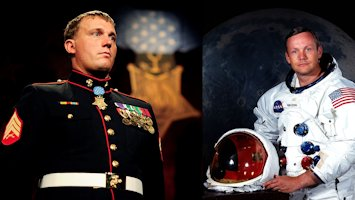 Medal of Honor Recipient Dakota Meyer and Astronaut Neil Armstrong