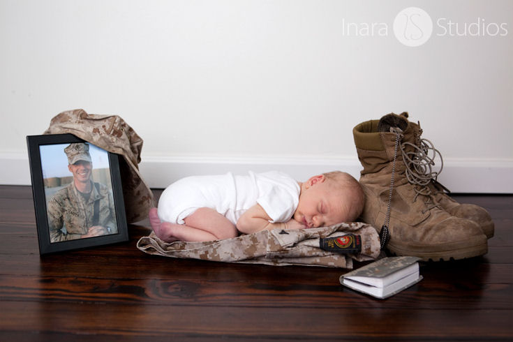 Please meet Landon... His dad, Marine Lance Cpl. Andrew P. Carpenter (27) made the ultimate sacrifice on February 19, 2011 while serving with the 3/8 in Afghanistan ... a month before his son was born.� Photo by Maricia with Inara Studios - April 1, 2011