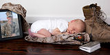 Please meet Landon... His dad, Marine Lance Cpl. Andrew P. Carpenter (27) made the ultimate sacrifice on February 19, 2011 while serving with the 3/8 in Afghanistan ... a month before his son was born.  Photo by Maricia with Inara Studios - April 1, 2011
